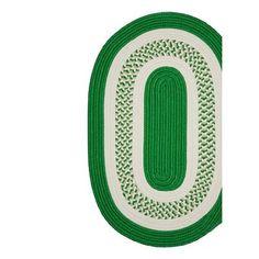 Bay Isle Home Rockport Green Indoor/Outdoor Area Rug Rug Size: Oval 5' x 8'