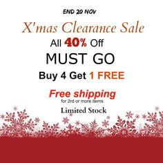 40 OFF for All Christmas Clearance Sale MUST GO Buy 4 by jjad97