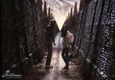 Jim Henson directing Jennifer Connelly on the Labyrinth set.