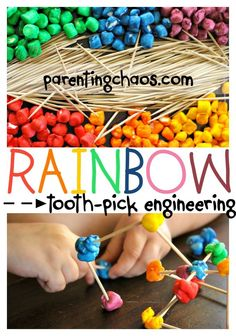 Rainbow Toothpick Engineering: All Construction Should Be This Sweet!