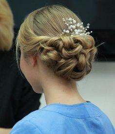 Twisted and Looped Prom Updo
