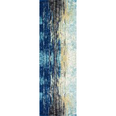 Artful elegance doesn't have to be limited to your walls! Bring gallery-worthy grace to space (in an unexpected way) with this alluring area rug, offering an abstract motif for eye-catching appeal. Made in Turkey, it is machine woven of synthetic with a casual low pile height. Roll it out between a pair of streamlined leather sofas for a high style living room look, then make it shine by suspending a cluster of exposed Edison bulbs overhead. Searching for something special to spruce up th...