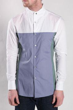 Pow Poplin Funnel Collar Shirt, OC, Opening Ceremony, Machus, Portland men's wear, Portland store, Street wear – machus