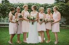 Blush Bridesmaids - Mismatched Bridesmaids