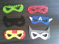 Masques vengeurs masqués pour anniversaire yoan 5ans