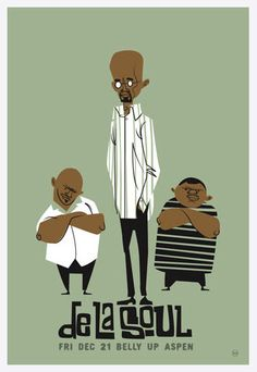 One of many posters from Scrojo and his Belly Up Series.