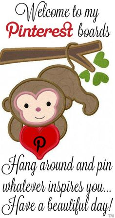 Hang around, have fun and pin whatever inspires you, I have No Pin Limits so Enjoy <3 Tam <3