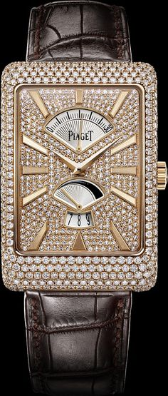 Pink gold Diamond retrograde seconds Watch - Piaget Luxury Watch G0A33060 | The House of Beccaria