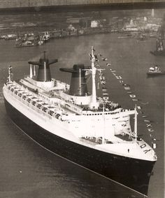 French Line FRANCE maiden call at Southampton