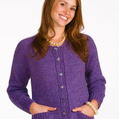 Free+Knitting+Pattern+-+Women's+Cardigans:+Delight+Simple+Beginners+Free+Cardigan+Knitting+Pattern