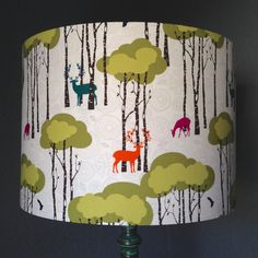 Frankly My Deer fabric drum lampshade https://www.etsy.com/uk/shop/birdandbuttonuk