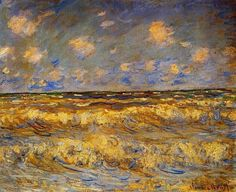 Monet- Stormy Sea