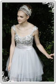 Sequins,  U-neck, Short Formal Dress