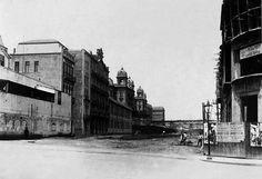 Entrada do Vale do Anhangabau, nas proximidades do prédio dos Correrios em 1916