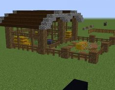 Minecraft Farmen, Minecraft Stables, Construction Minecraft, Casa Medieval Minecraft, Minecraft Sheep, Minecraft Building Guide, Minecraft Survival, Minecraft Tutorial, Minecraft Blueprints