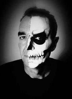Half skull Halloween makeup JBROOMHALL makeup artist & body art