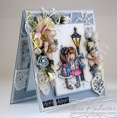 OOAK handmade LOTV In the Lamplight card by Bev by BevsCrafts
