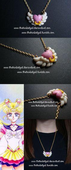 Eternal Sailor Moon Brooch Pendant by TheTrinketGal.deviantart.com on @DeviantArt