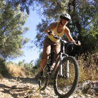 Dr. German enjoys mountain biking!