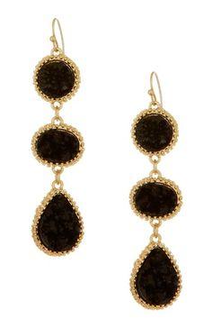 Triple Druzy Drop Earrings on HauteLook