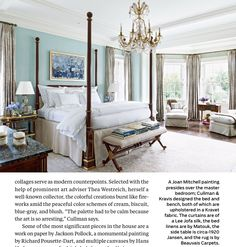 Allan Greenberg and Elissa Cullman Design a Federal-Style Mansion in Houston - Architectural Digest Architectural Digest, Pastel Room, Pastel Colors, French Country Bedrooms, Chandelier Bedroom, Beautiful Bedrooms, Glamorous Bedrooms, My New Room, Houses