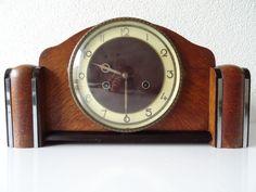 Junghans Pfeilkreuz WW2 1936 Antique Art Deco German Shelf Mantel Bracket Clock   eBay