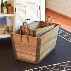 Wood Storage Bins    Ballard Designs   European-inspired home furnishings