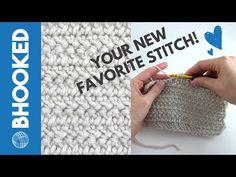 {Left-Handed} How to Crochet the Herringbone Double Crochet Stitch Crochet Stitches Patterns, Crochet Patterns For Beginners, Stitch Patterns, Knitting Patterns, Crochet Cap, Double Crochet, Crochet Hooks, Knitting Gauge, Circular Knitting Needles