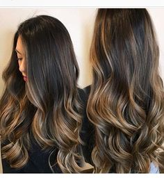 Pin by priya malhotra on hair - balayage in 2019 волосы, при Brown Ombre Hair, Ombre Hair Color, Hair Color Balayage, Hair Highlights, Dark Hair Caramel Highlights, Hair Bayalage, Balayage Brunette, Brunette Hair, Butter Blonde