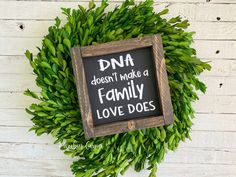 DNA doesn't make a family sign Blended family gift Adoption Gifts, Kitchen Humor, Funny Kitchen, Kitchen Signs, Godparent Gifts, Step Parenting, Make A Family, Newlywed Gifts, Diy Blog