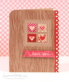 Friday Focus video tutorial– Valentine's Day Card #2 - by Kristina