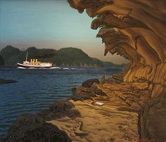 Ferry Passing Malaspina's Gallery [Galiano Is. Emily Carr, Group Of Seven, Paintings I Love, Canadian Artists, British Columbia, Art Museum, Islands, Coastal, Home And Garden