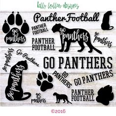 Items similar to Panthers SVG Cut File Pack with 9 Panther Designs for High School and Little League Spirit Shirts on Etsy Cheer Shirts, Football Shirts, School Football, Panther Football, Panther Logo, School Spirit Shirts, Cricut Air, Cricut Vinyl, School Logo