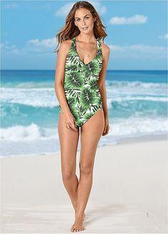 X Marks The Spot Tankini in Swimsuits, Bikinis, Swimwear, Tankini Top, Bikini Bottoms, Venus, High Waist, Nautical, One Piece