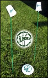 Flimsee, probably the funnest lawn game / sideline sport ever. Makes for an interesting drinking game too. www.flimsee.com