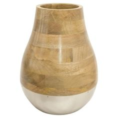 Silver and Wood Vase Large - Threshold™ : Target