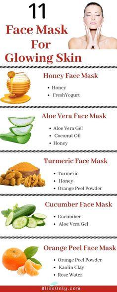11 einfache hausgemachte Gesichtsmasken für strahlende Haut | Diy Akne Gesichtsmaske ohne Honig | Pickel Re