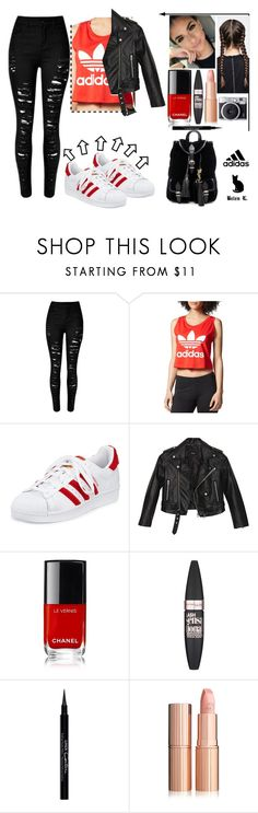 """Sin título #69"" by belen-lillo on Polyvore featuring moda, adidas Originals, adidas, Nasty Gal, Maybelline, Givenchy y Yves Saint Laurent"