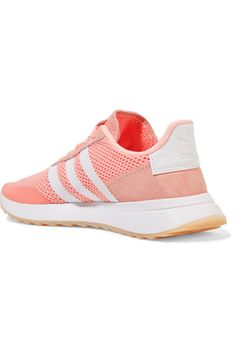 online store 4b516 0e592 adidas Originals - Flashback Suede-trimmed Mesh Sneakers - Coral Adidas  Originals, Trainers,