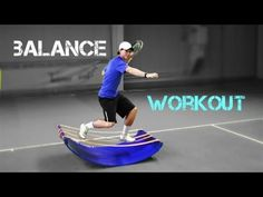 Tennis - balance and stability workout on SLACK NUT® - YouTube