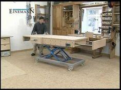 Adjustable workbench - Einemann Montagetische MT3