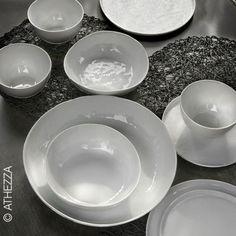 Assiette en porcelaine Crumple (par 4) Athezza