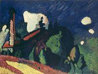 Vassily Kandinsky, Landschaft mit turm (Paysage à la tour), 1908