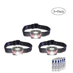 LED Headlamps Flashlight, Andyou Cree LED Headlamp with Red Lights,IPX4 Waterproof Head Light for Running, Camping, Reading, Kids, DIY & More - AAA batteries included 3 Pack:   Hands-Free, Bright Lighting For Indoor And Outdoor Activitybrbr Are you tired of fumbling around in the dark, holding a flashlight while you tackle a household project,br clean things up or go for a walk? Andyou offers the best solution for your hands-free lighting!br Battery Specification:brbr Battery Type: AAA...