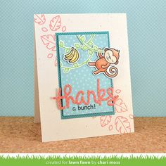 Lawn Fawn April 2015 Inspiration Week - Critters In The Jungle | card by Chari