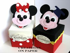 Creations on Paper Stampin' Up Punch Art Disney Mickey and Minnie Mouse Disney