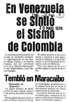 En Venezuela se sintió el sismo de Colombia Publicado el 23 de agosto de 1988