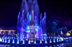 fountain - Fountain with dancing lights at Vigan City, Philippines