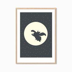 DISNEY Dumbo Poster Modern Nursery Flying by SealDesignStudio, $18.50