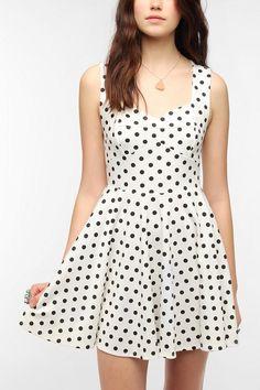 Pins and Needles Knit Polka Dot Dress  #UrbanOutfitters